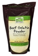 NOW Foods - Beef Gelatin Powder Unflavored - 1 lb.