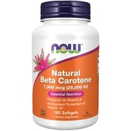 NOW Foods - Beta Carotene (Natural) D. salina with Mixed Carotenoids 25000 IU - 180 Softgels, from category: Vitamins & Minerals
