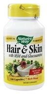 Image of Nature's Way - Hair and Skin Formula with MSM and Glucosamine 599 mg. - 100 Capsules