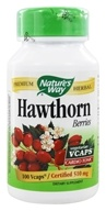 Nature's Way - Hawthorn Berries 510 mg. - 100 Vegetarian Capsules (033674151785)