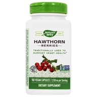 Nature's Way - Hawthorn Berries 510 mg. - 180 Vegetarian Capsules - $7.75