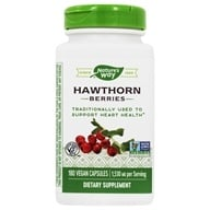 Nature's Way - Hawthorn Berries 510 mg. - 180 Vegetarian Capsules by Nature's Way