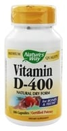 Nature's Way - Vitamin D-400- Natural Dry Form - 100 Capsules - $4.75