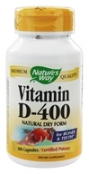 Nature's Way - Vitamin D-400- Natural Dry Form - 100 Capsules by Nature's Way