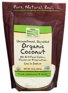 Image of NOW Foods - Organic Coconut Unsweetened - 10 oz.