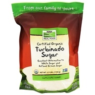 NOW Foods - Turbinado Sugar Organic, Non-GE - 2.5 lbs.