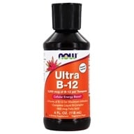 NOW Foods - Ultra B-12 per Teaspoon 5000 mcg. - 4 oz.