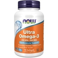 NOW Foods - Ultra Omega-3 500 EPA/250 DHA - 90 Softgels by NOW Foods