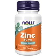 NOW Foods - Zinc 50 mg. - 100 Tablets (733739015204)