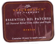 Natural Patches of Vermont - Aromatherapy Body Patch Essential Oil Blend Arnica - 10 Patch(es) Formerly Naturopatch