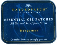 Natural Patches of Vermont - Calming Stress Formula Essential Oil Body Patches Bergamot - 10 Patch(es) Formerly Naturopatch