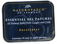 Natural Patches of Vermont - Soothing Coughs & Colds Formula Essential Oil Patches Eucalyptus Citriodora - 10 Patch(es) Formerly Naturopatch
