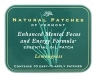Image of Natural Patches of Vermont - Aromatherapy Body Patch Essential Oil Blend Lemongrass - 10 Patch(es) Formerly Naturopatch