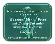 Natural Patches of Vermont - Aromatherapy Body Patch Essential Oil Blend Lemongrass - 10 Patch(es) Formerly Naturopatch by Natural Patches of Vermont