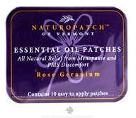Natural Patches of Vermont - Aromatherapy Body Patch Essential Oil Blend Rose Geranium - 10 Patch(es) Formerly Naturopatch (855611001041)