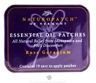 Natural Patches of Vermont - Aromatherapy Body Patch Essential Oil Blend Rose Geranium - 10 Patch(es) Formerly Naturopatch by Natural Patches of Vermont