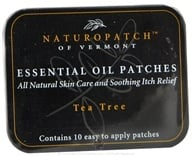 Natural Patches of Vermont - Aromatherapy Body Patch Essential Oil Blend Tea Tree - 10 Patch(es) Formerly Naturopatch by Natural Patches of Vermont