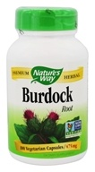 Image of Nature's Way - Burdock Root 475 mg. - 100 Capsules