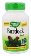 Nature's Way - Burdock Root 475 mg. - 100 Vegetarian Capsules