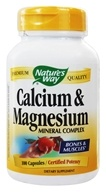 Nature's Way - Calcium & Magnesium- Certified Potency - 100 Capsules
