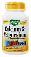 Nature's Way - Calcium & Magnesium- Certified Potency - 100 Capsules, from category: Vitamins & Minerals