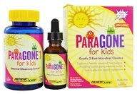 Image of ReNew Life - ParaGONE for Kids I and II 2 Part Internal Cleansing System - 120 Vegetarian Capsules