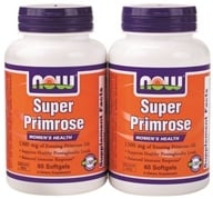 Image of NOW Foods - Super Primrose (60+60) Twin Pack Special 1300 mg. - 120 Softgels
