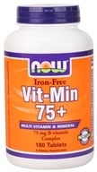NOW Foods - Vit-Min 75+ Multiple Vitamin (Iron-Free) - 180 Tablets (733739038326)