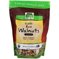 Image of NOW Foods - Certified Organic Walnuts Raw Halves and Pieces - 12 oz.