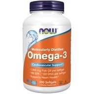 NOW Foods - Omega 3 2000 mg. - 200 Softgels (733739016522)