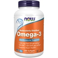 NOW Foods - Omega 3 2000 mg. - 200 Softgels, from category: Nutritional Supplements