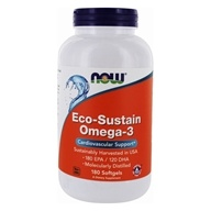 Eco- Sustain Omega-3 soutien cardiovasculaire - 180 Softgels by NOW Foods