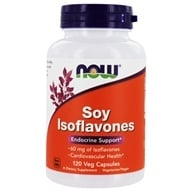 Image of NOW Foods - Soy Isoflavones Non-GE 60 mg. - 120 Vegetarian Capsules
