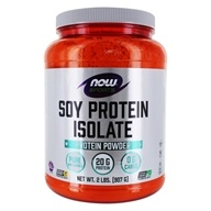 NOW Foods - Soy Protein Isolate Non-GMO Unflavored - 2 lbs. DAILY DEAL