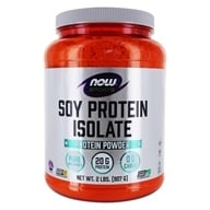 NOW Foods - Soy Protein Isolate Non-GMO Unflavored - 2 lbs. DAILY DEAL (733739021526)