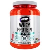 Image of NOW Foods - Whey Protein Strawberry - 2 lbs.