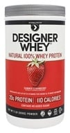 Designer Protein - Designer Whey Natural 100% Whey-Based Protein Powder Summer Strawberry - 2 lbs.