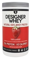 Designer Protein - Designer Whey 100% Premium Whey Protein Powder Luscious Strawberry - 2 lbs., from category: Sports Nutrition