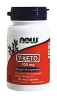 Image of NOW Foods - 7-Keto 100 mg. - 30 Vegetarian Capsules