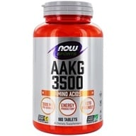 NOW Foods - AAKG Highest Potency Available 3500 mg. - 180 Tablets