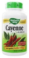 Nature's Way - Cayenne Pepper 450 mg. - 180 Capsules