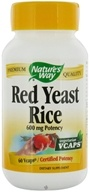 Nature's Way - Red Yeast Rice 600 mg. - 60 Vegetarian Capsules