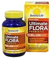 Renew Life - Ultimate Flora Everyday Probiotic For Adults 15 Billion - 30 Capsules