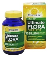 Renew Life - Ultimate Flora Adult 50+ Probiotic 30 Billion - 30 Vegetable Capsule(s) Formerly Senior Formula