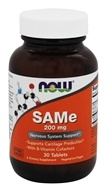 Image of NOW Foods - SAMe 2X 400/200 mg Vegetarian Enteric Coated - 30 Tablets