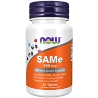 NOW Foods - SAMe Vegetarian Enteric Coated 400 mg. - 30 Tablets