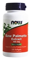 NOW Foods - Saw Palmetto Double Strength 160 mg. - 120 Softgels