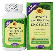 Nature's Secret - 13 Powerful Food Digestion Enzymes - 60 Softgels