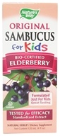 Nature's Way - Sambucus For Kids Bio-Certified Elderberry, Echinacea, & Propolis Syrup Berry Flavored - 4 oz.