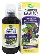 Nature's Way - Sambucus Immune System Bio-Certified Elderberry, Echinacea, Zinc, Propolis & Vitamin C Syrup - 8 oz. by Nature's Way